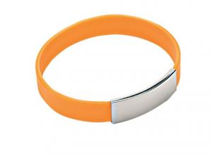 Bracciale uomo silicone arancio cm.6,5x6,5x1,1h