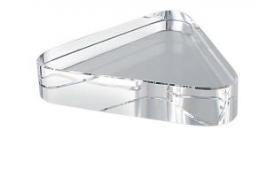 Fermacarte triangolare vetro bianco cm.8x7x1,9h