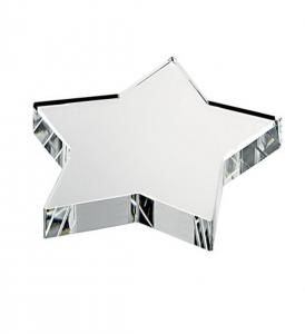 Fermacarte stella in vetro cm.9x9x1,9h