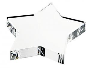 Fermacarte stella in vetro cm.10x10x1,9h