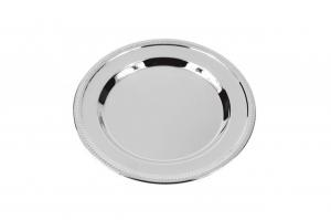 Vassoio rotondo cromato set da 6 pz cm.10,75x10,75x1h diam.10,7