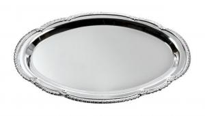 Vassoio ovale in acciaio cm.17x24x1h