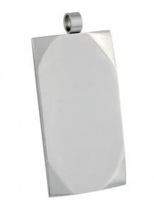 Pendente acciaio military cm.3,8x2,1x0,2h