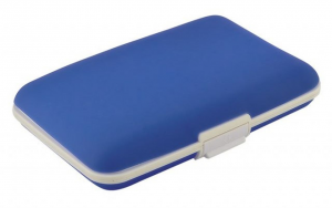 Portabiglietti silicone blue cm.7x11x2h