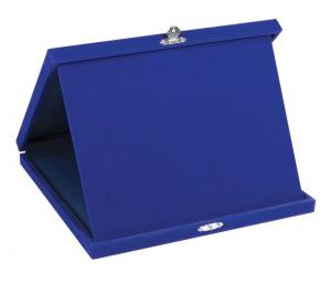 Portatarga velluto blu cm.28x23x3h