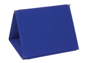 Portatarga in velluto blu Mdf cm.18x14x1,5h