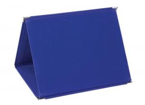 Portatarga in velluto blu cm.28x21x1,5h