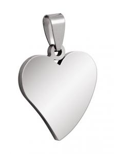 Pendente acciaio cuore cm.2,6x2,4x0,2h