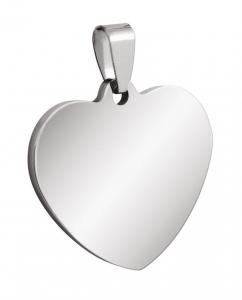 Pendente acciaio cuore cm.3x2,8x0,2h