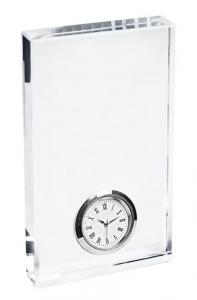 Orologio in vetro cm.8x1,9x14h