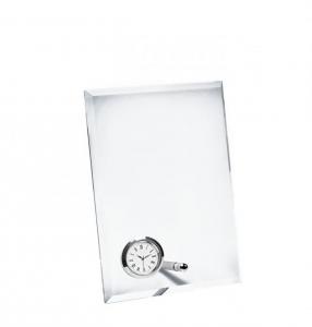 Vetro verticale con orologio cm.14x5x19h