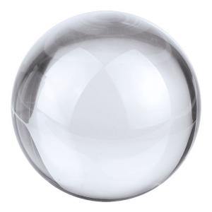 Fermacarte Sfera in vetro bianco cm.6x6x5,5h