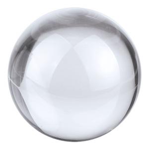 Fermacarte Sfera in vetro bianco cm.8x8x7,5h