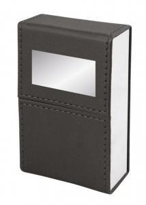 Porta sigarette nero simil pelle cm.5,2x3x9,8h
