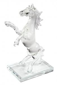 Cavallo in vetro piccolo cm.11,5x6,8x17h
