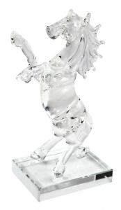 Cavallo in vetro grande cm.12,5x7,5x20h