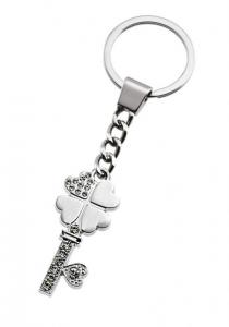 Portachiavi quadrifoglio chiave e cuore cm.10,5x3,2x0,7h