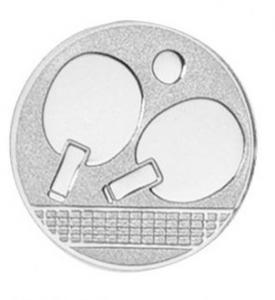 Medaglia Piastrina Ping Pong cm.2,5x2,5x0,1h