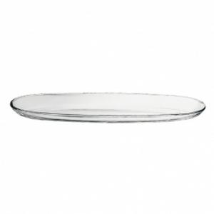 Piatto ovale in vetro cm.50x16