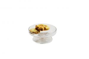 Alzatina in vetro per dolci cm.5h diam.11,5