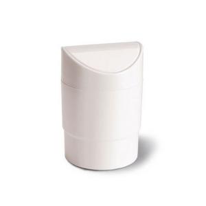 Portarifiuti da tavolo in plastica bianco cm.17,5h diam.12