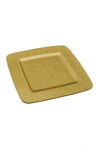 Piatto Quadrato in Plexiglass color Oro cm.31,5x31,5x1h