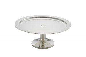 Vassoio tondo da buffet con base argentato argento stile Cardinale cm.16h diam.40
