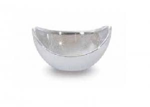 Ciotola gondola in vetro e argento cm.11x8,5