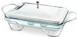 Porta pirofila pyrex argentata argento stile Filo