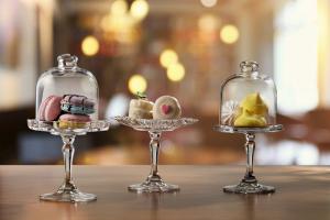 Alzate per dolci in vetro pasticceria 3 pezzi assortiti
