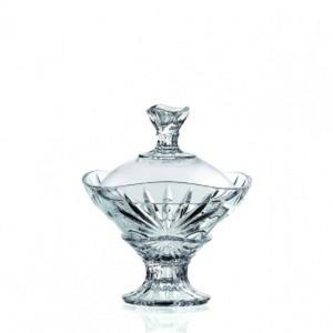 Scatola con coperchio per dolci in vetro cristallino Oasis RCR cm.20h diam.17,2