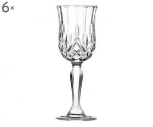 Calice Liquore in Cristallo stile Opera Rcr Set 6 pezzi cm.13,2h diam.4,5