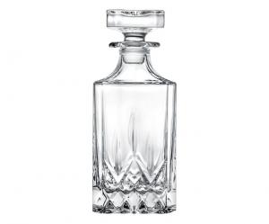 Bottiglia Quadra in Cristallo Rcr stile Opera cm.18,8h