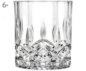 Bicchieri di Cristallo Acqua stile Opera Rcr Set 6 pezzi cm.9,4h diam.8