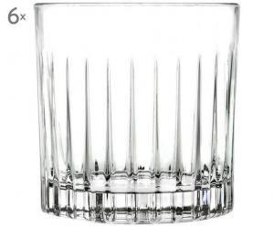 Bicchieri Acqua in Cristallo stile Timeless Rcr Set 6 pezzi cm.9,2h
