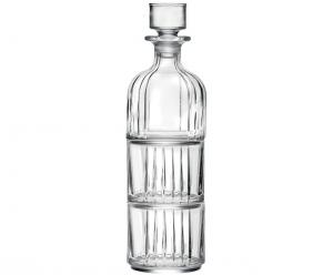 Set Bottiglia e 2 Bicchieri Impilabili stile Combo cm.32h diam.9