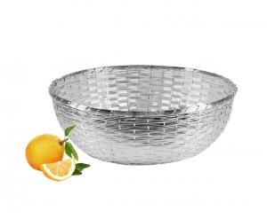 Cestino Frutta Argentato argento Intrecciato diametro cm.9h diam.26