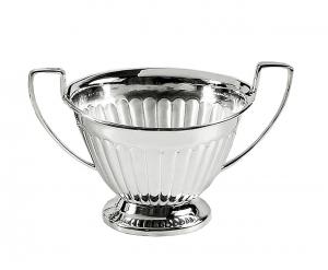 Zuccheriera con manici Argentata argento stile Regina Anna 200ml cm.8h diam.10