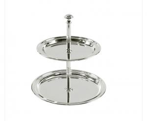 Alzatina a due piani Argentata argento stile Inglese cm.16h