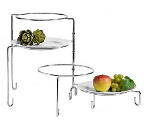 Alzata per Dolci e Frutta Argentata Argento 4 piani cm.37h diam.24