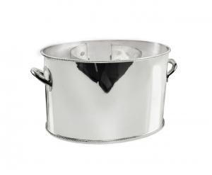 Secchiello Champagne Ovale Argentato argento cm.21x14x14h