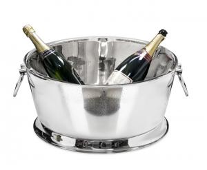 Spumantiera Champagne con maniglie In Acciaio Inox cm.25,5h diam.53