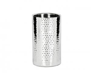 Glacette Vino in acciaio stile Martellato cm.20,5h diam.12