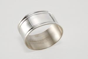 Portatovagliolo ovale argentato argento stile Inglese cm.5,5x4,5x4,5h
