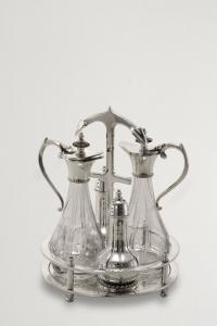 Menagere stile Liberty argentato argento sheffield cm.23,5h diam.18