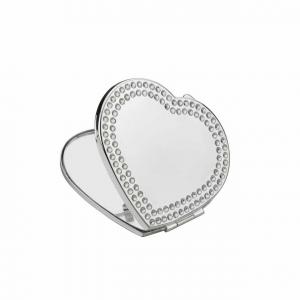 Specchietto cuore silver plated cm.6,2x5,8