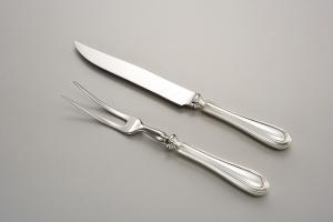 Forchetta trinciare argentato argento sheffield stile inglese cm.26x2,5