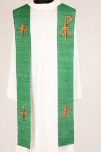 Stola S61 M2 Verde - Seta Greggia Quadri