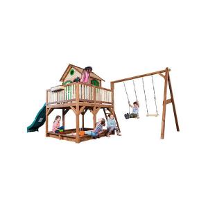 Casetta per Bambini in Legno di Cedro con sabbiera e Doppia altalena LIAM di AXI