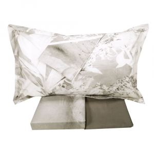 Bettbezug-Set DIESEL Percale RIPPED FLOWERS grau